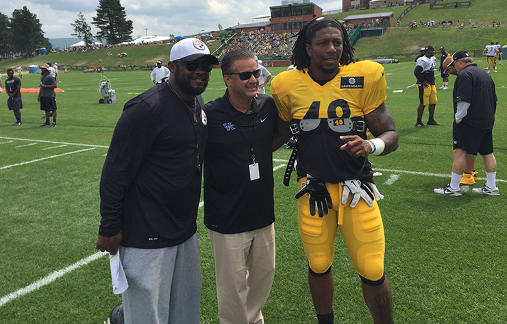 John Calipari Visits Bud Dupree at Steelers Camp