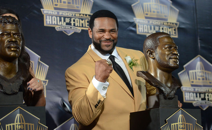 Jerome Bettis Salutes Family, Fans During Hall of Fame Induction