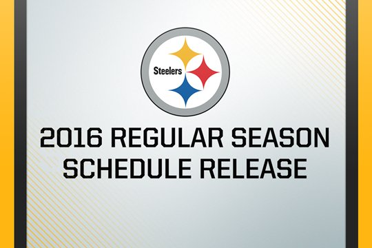 Steelers 2016 Schedule Release