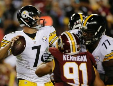 Roethlisberger throws for 3 TDs as Steelers beat Redskins