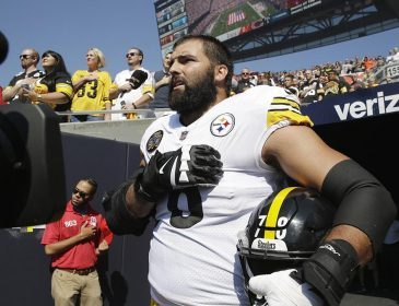 Alejandro Villanueva Comes Out of Tunnel for Anthem